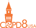 COPD8 Conference logo.